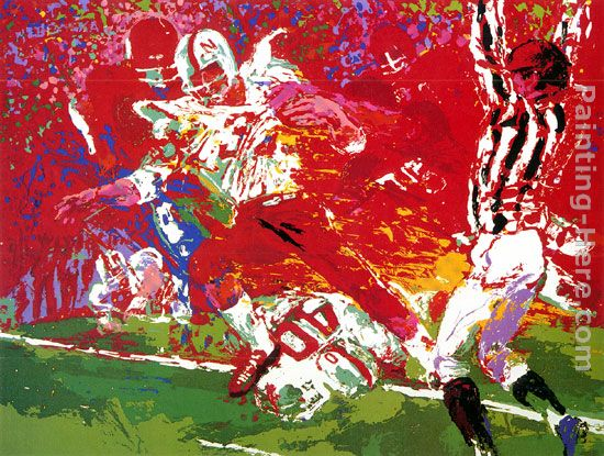 Game of the Century, Nebraska Suite painting - Leroy Neiman Game of the Century, Nebraska Suite art painting