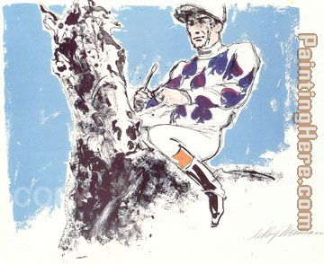 Jockey Suite Spades painting - Leroy Neiman Jockey Suite Spades art painting