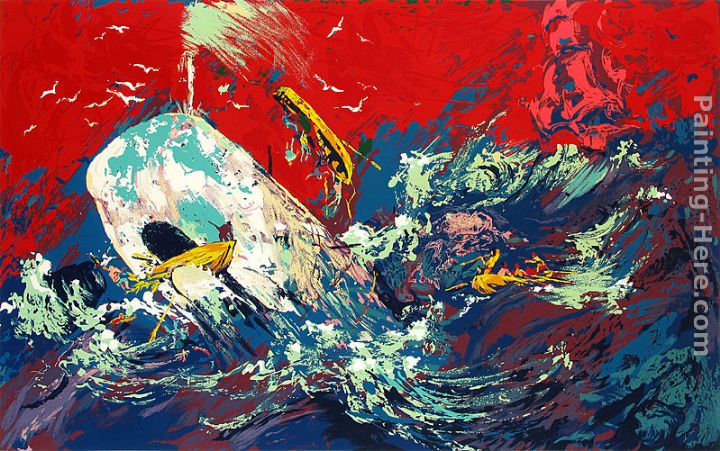 Red Sky Moby Dick Suite painting - Leroy Neiman Red Sky Moby Dick Suite art painting
