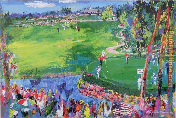 Leroy Neiman Ryder Cup Art Painting