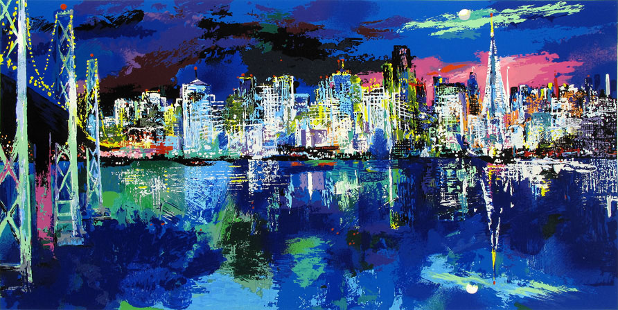 San Francisco by Night painting - Leroy Neiman San Francisco by Night art painting