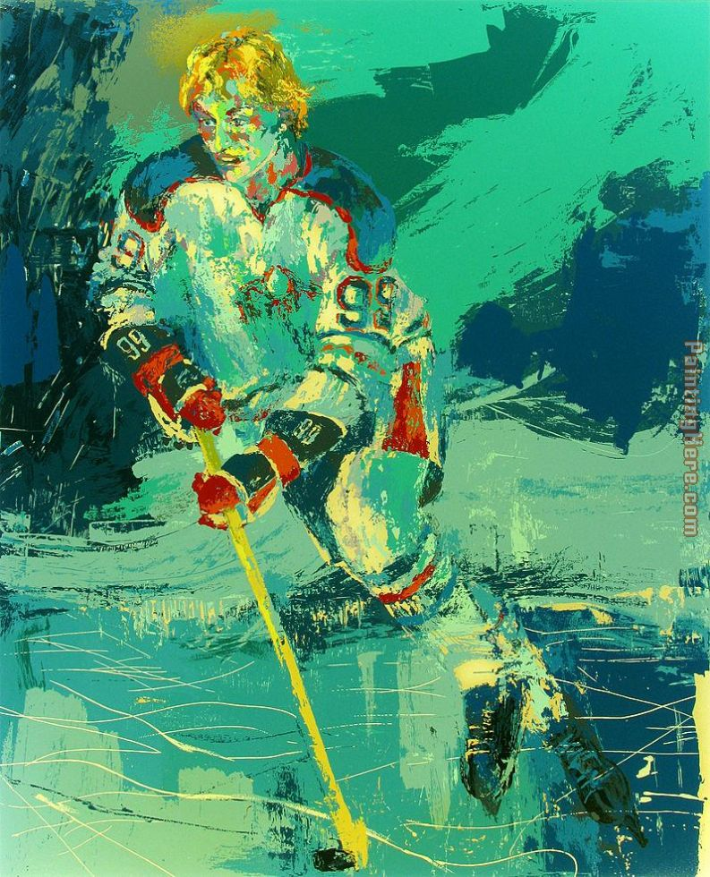 The Great Gretzky painting - Leroy Neiman The Great Gretzky art painting
