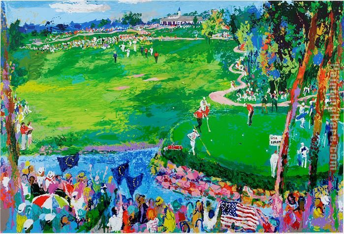 the 37th Ryder Cup painting - Leroy Neiman the 37th Ryder Cup art painting