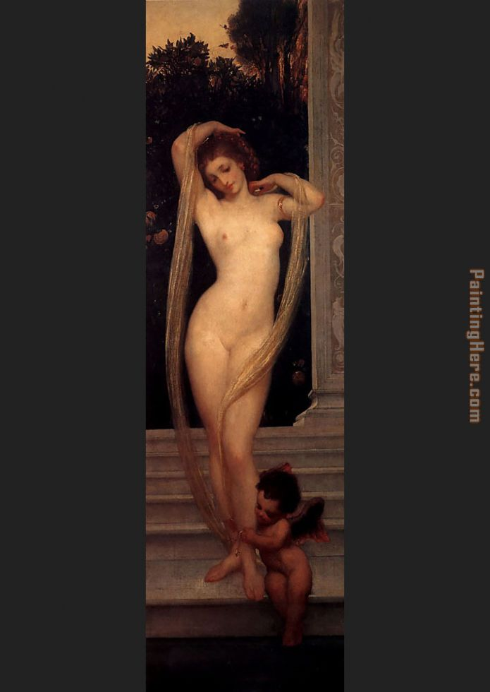 A Bather painting - Lord Frederick Leighton A Bather art painting