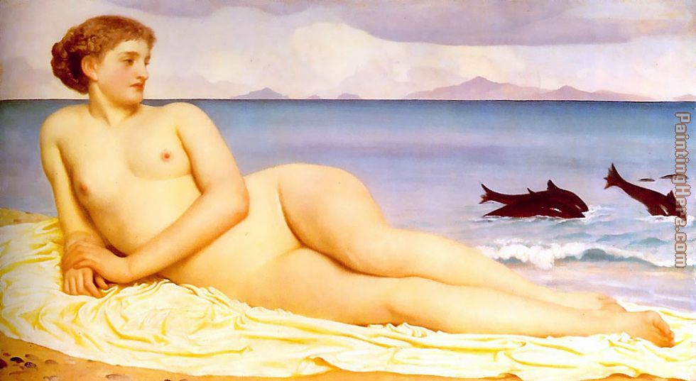 Lord Frederick Leighton Actaea the Nymph of the Shore Art Painting