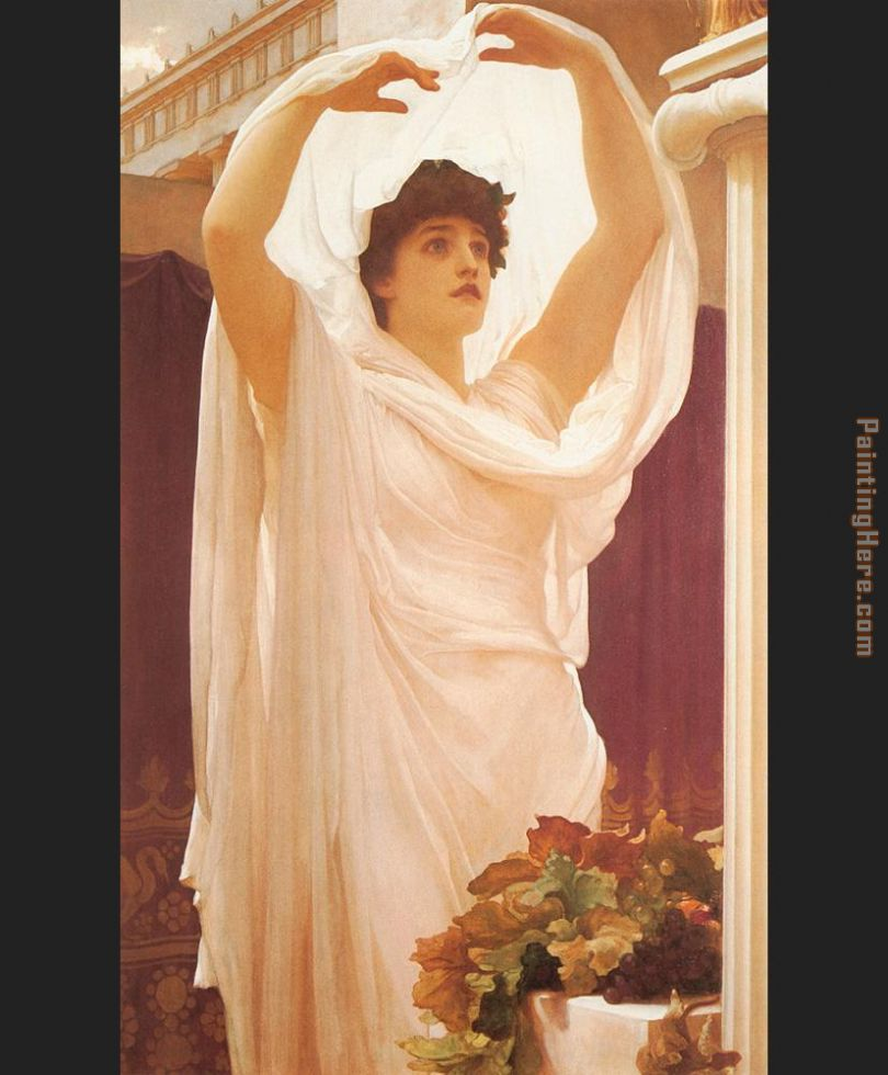 Invocation painting - Lord Frederick Leighton Invocation art painting