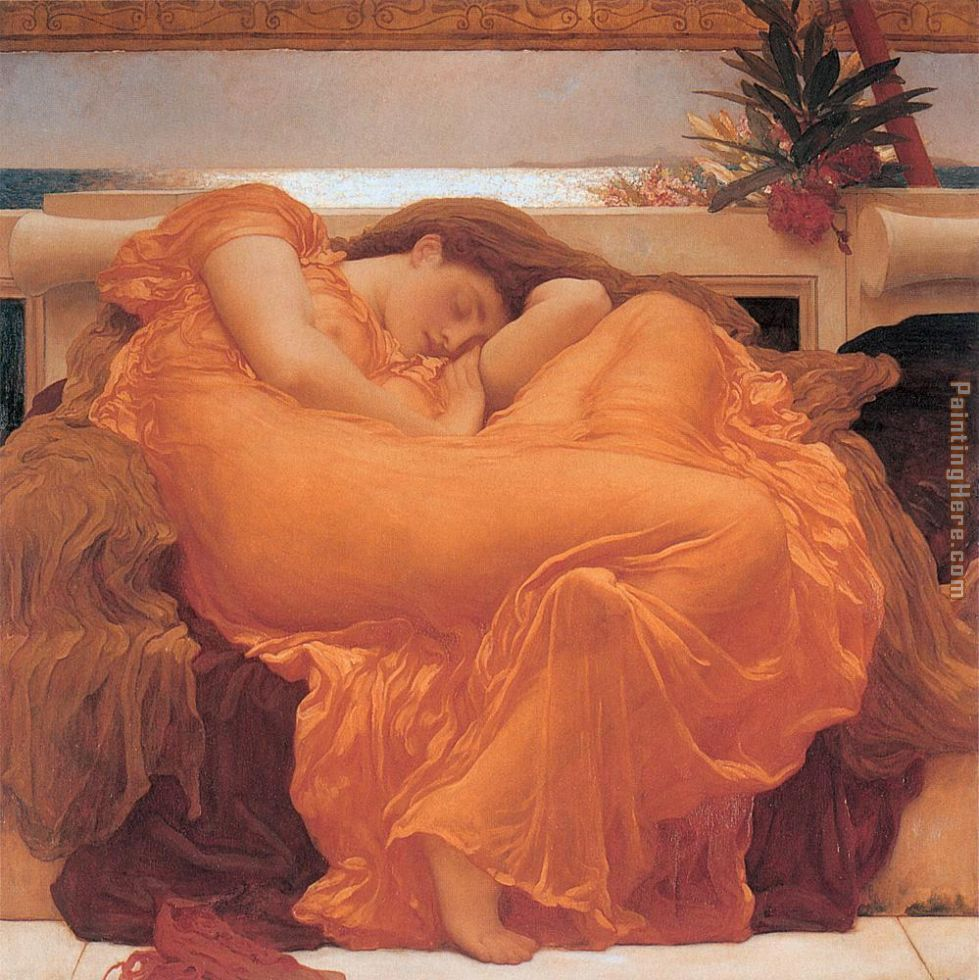 Leighton Flaming June painting - Lord Frederick Leighton Leighton Flaming June art painting