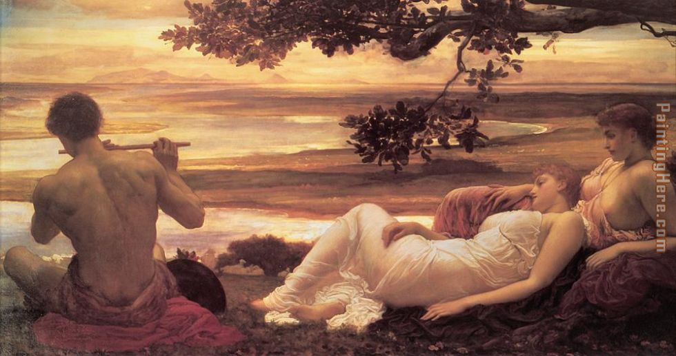 Leighton Idyll painting - Lord Frederick Leighton Leighton Idyll art painting