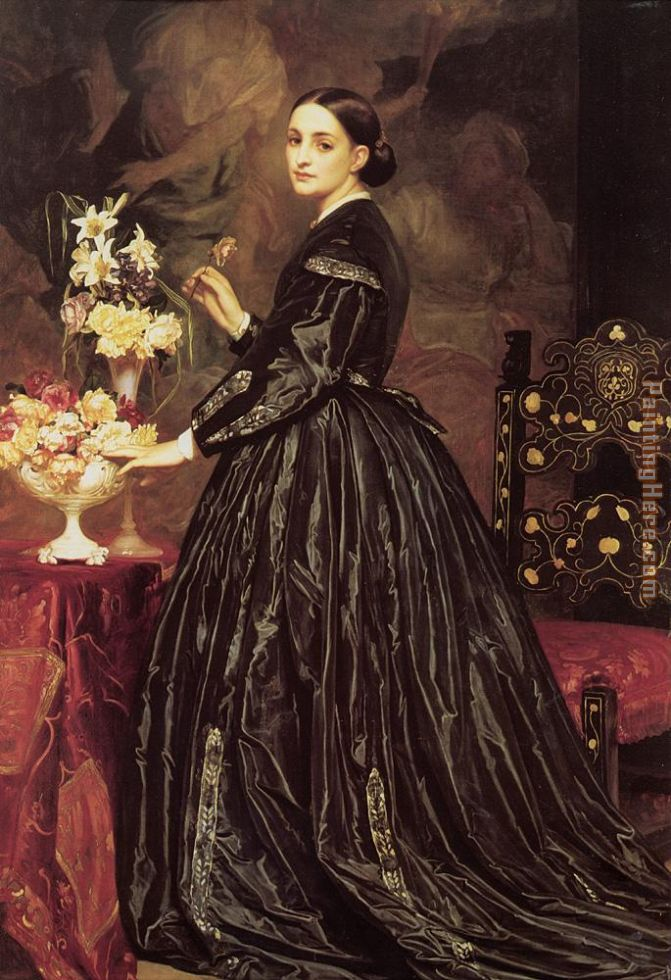 Mrs James Guthrie painting - Lord Frederick Leighton Mrs James Guthrie art painting