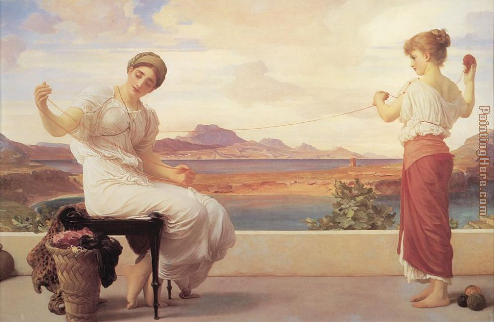 Lord Frederick Leighton Leighton Winding the Skein Art Painting