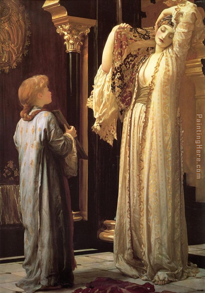 Light of the Harem painting - Lord Frederick Leighton Light of the Harem art painting