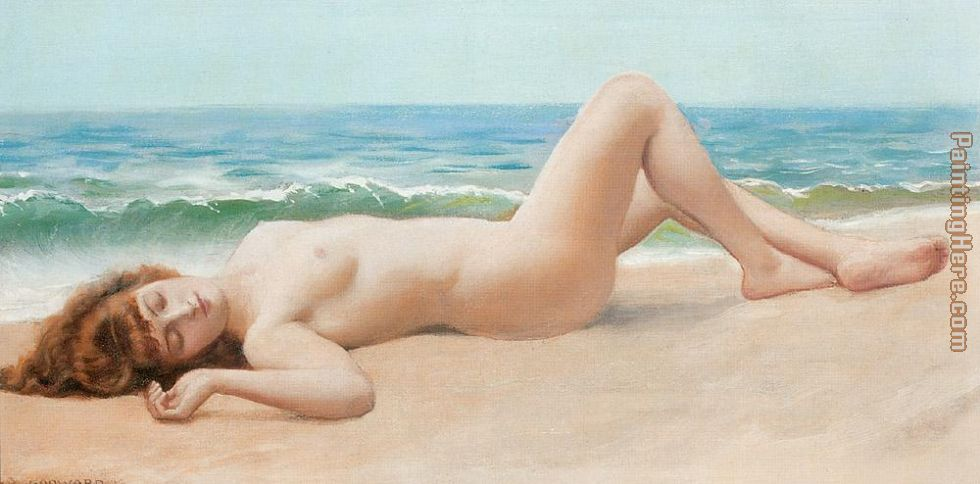 Lord Frederick Leighton Nude on the Beach Art Painting
