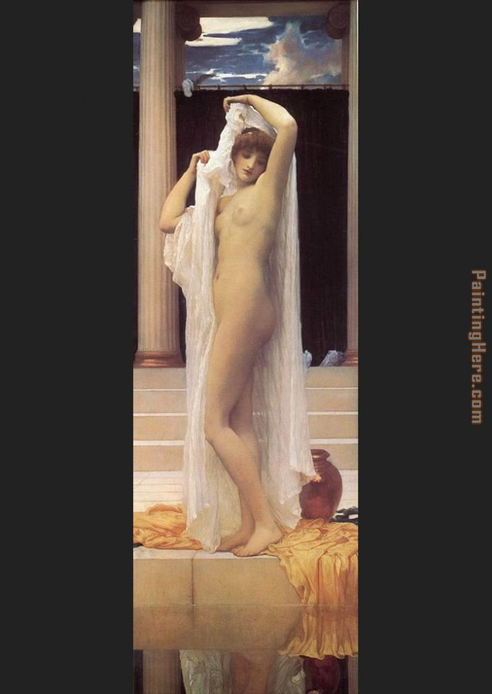 The Bath of Psyche painting - Lord Frederick Leighton The Bath of Psyche art painting