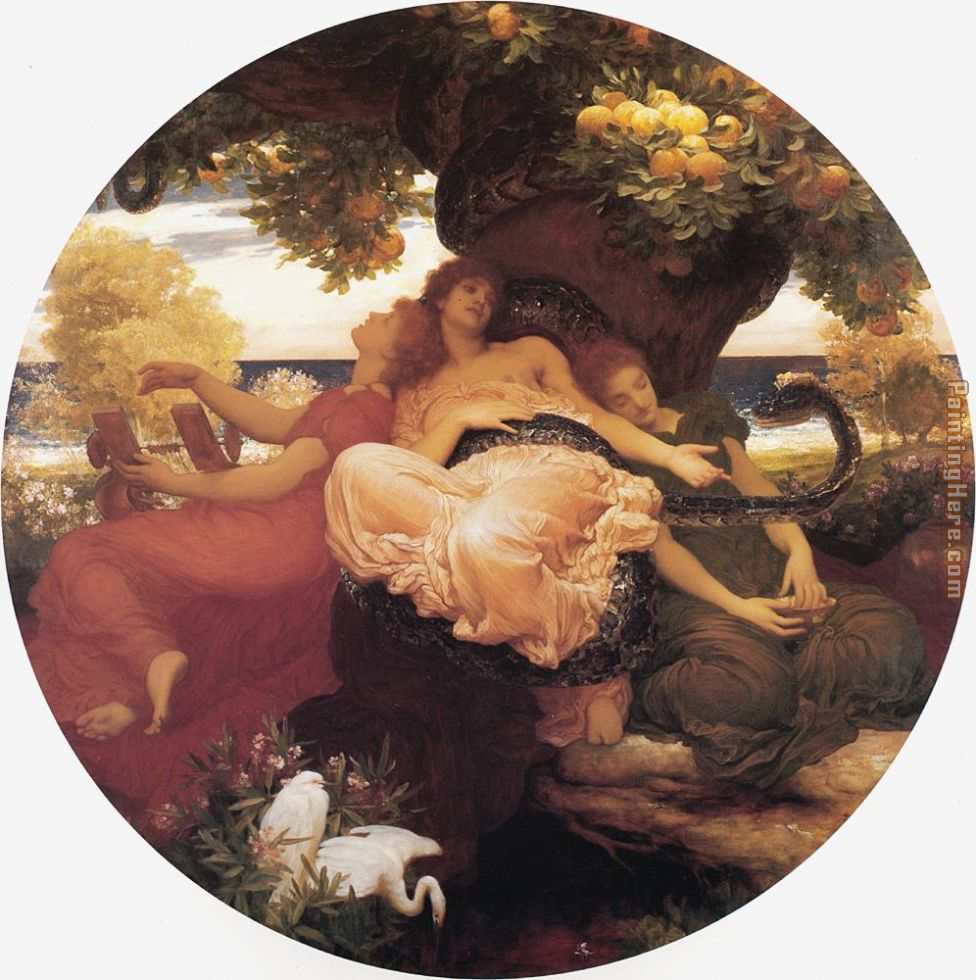 The Garden of the Hesperides painting - Lord Frederick Leighton The Garden of the Hesperides art painting