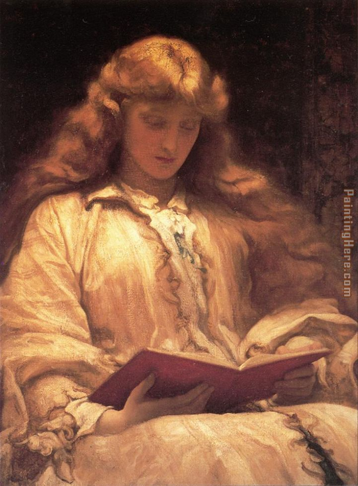 The Maid with the Yellow Hair painting - Lord Frederick Leighton The Maid with the Yellow Hair art painting