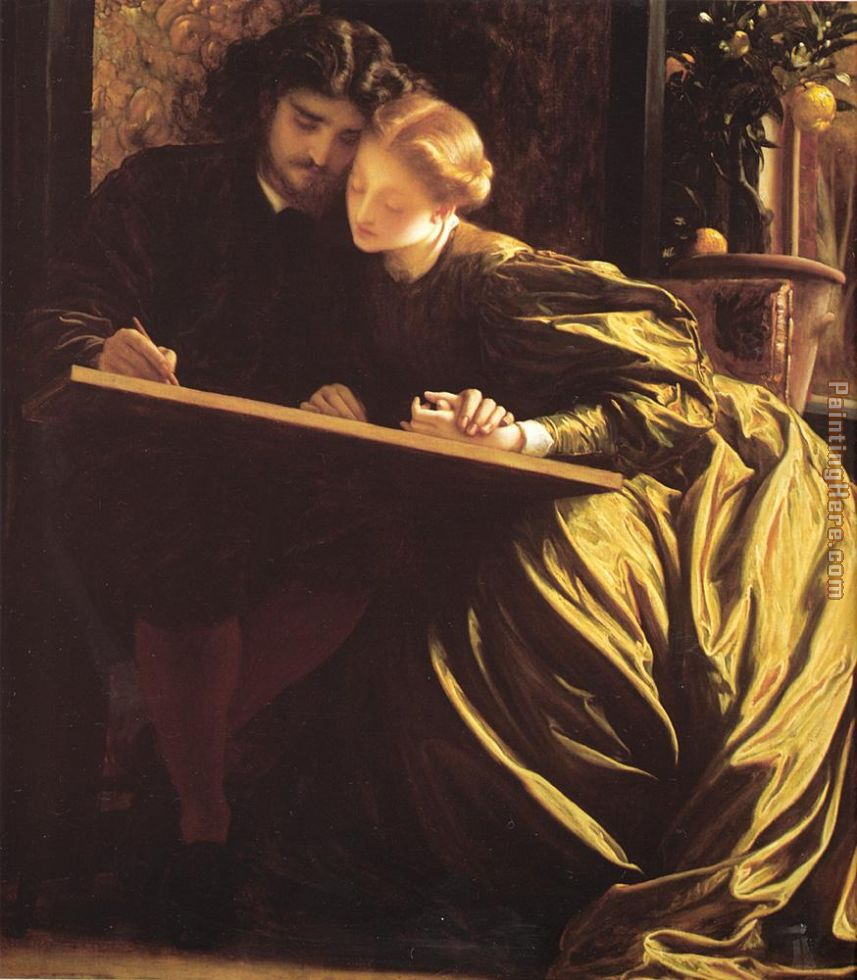 Lord Frederick Leighton The Painter's Honeymoon Art Painting