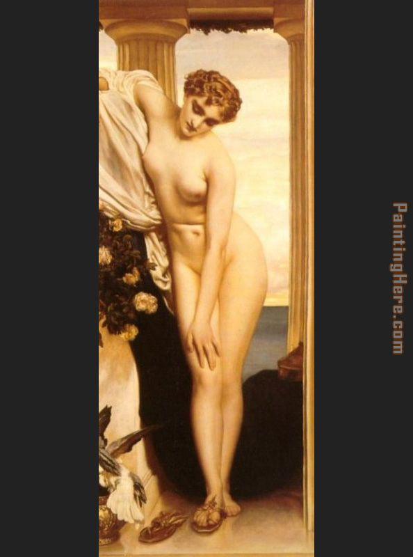 Venus Disrobing for the Bath painting - Lord Frederick Leighton Venus Disrobing for the Bath art painting