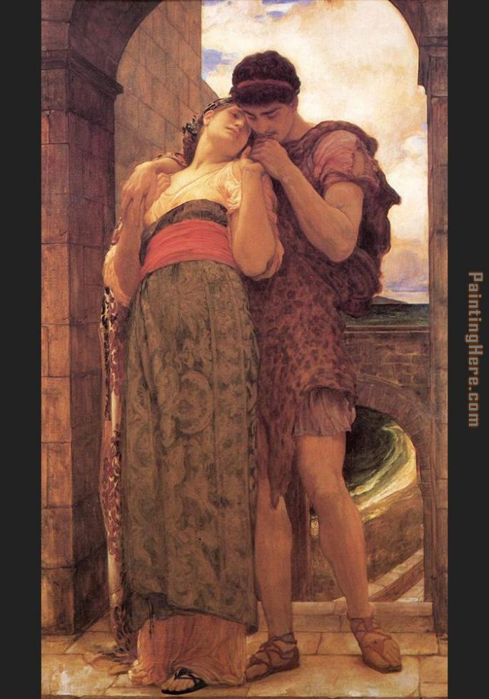 Wedded painting - Lord Frederick Leighton Wedded art painting