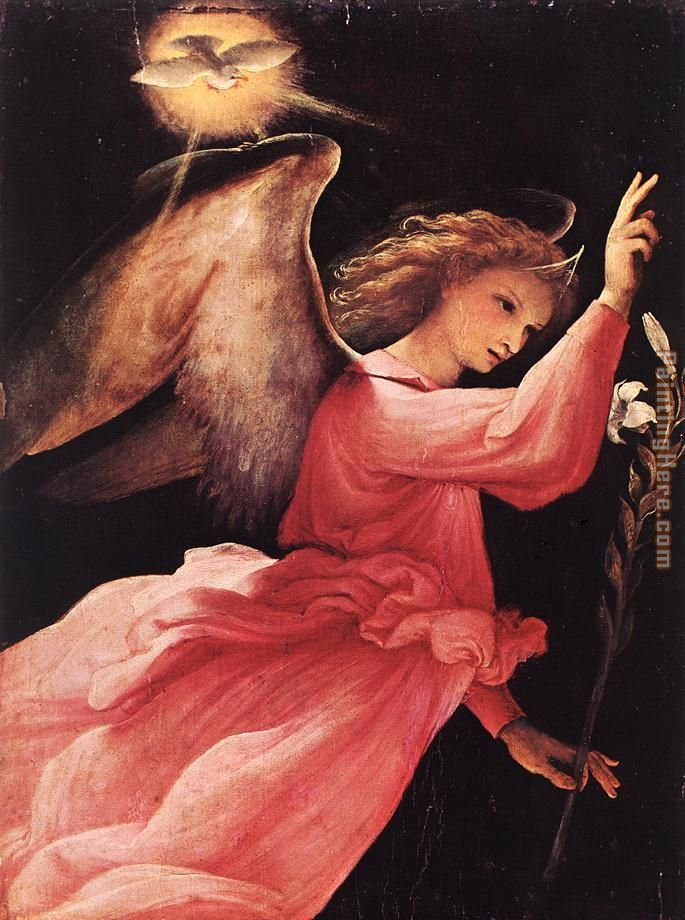 Lorenzo Lotto Angel Annunciating painting anysize 50% off ... Angel Painting Renaissance