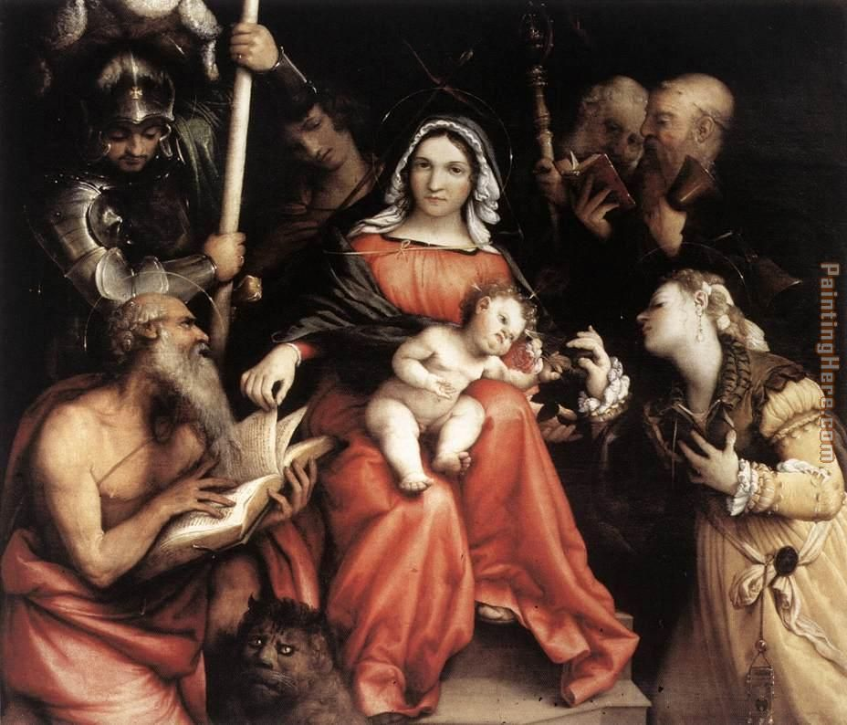 Mystic Marriage of St Catherine painting - Lorenzo Lotto Mystic Marriage of St Catherine art painting