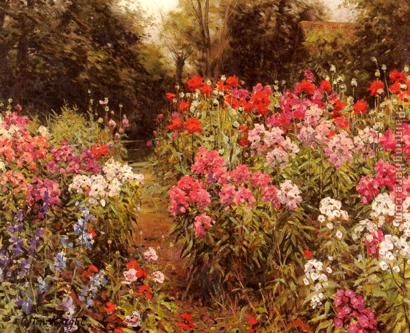 A Flower Garden Painting   Louis Aston Knight A Flower Garden Art Painting