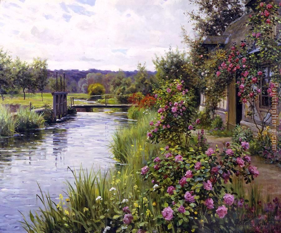 flowers in bloom painting - Louis Aston Knight flowers in bloom art painting