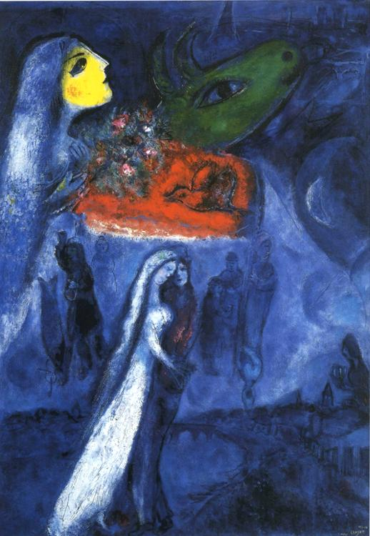 On Two Banks painting - Marc Chagall On Two Banks art painting