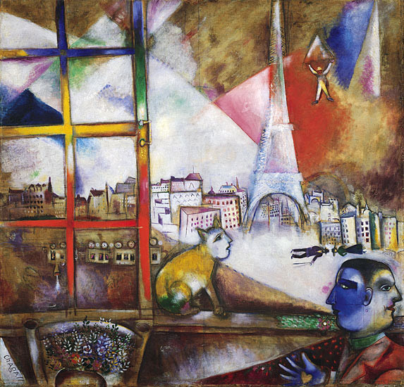 Marc Chagall painting Paris Through the Window
