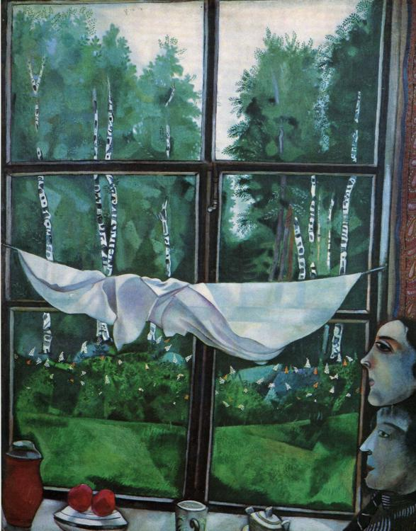 Marc Chagall Window in the Country Art Painting