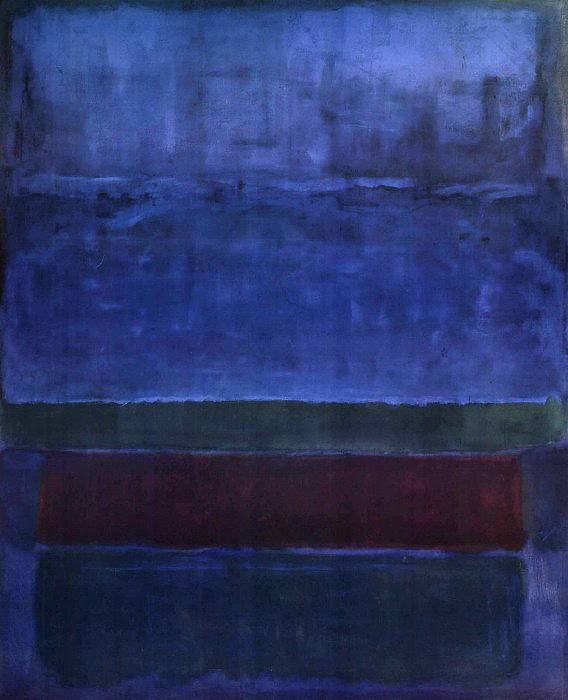 Mark Rothko Blue Green and Brown 1951 Art Painting