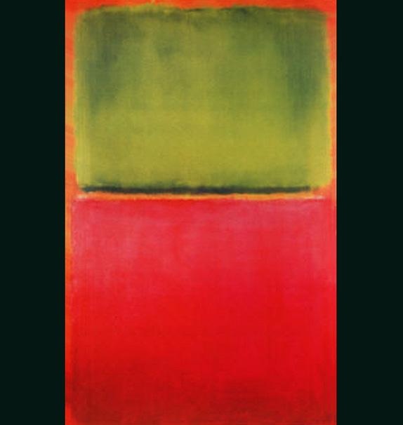 Green Red On Orange Painting Mark Rothko Art