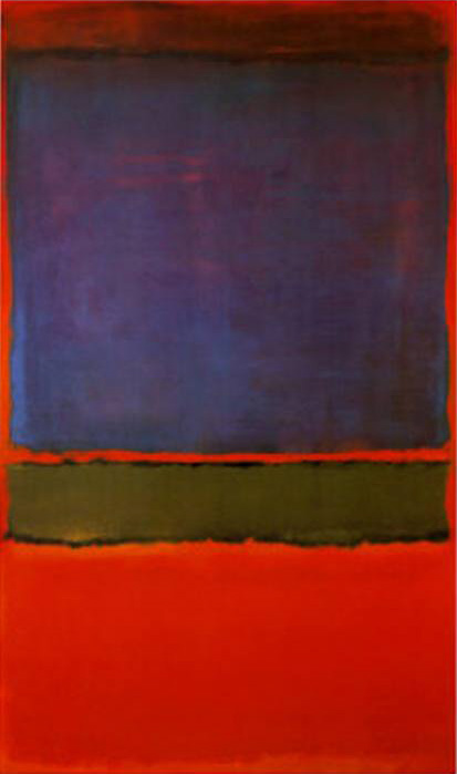 Mark Rothko No 6 Violet Green and Red Art Painting