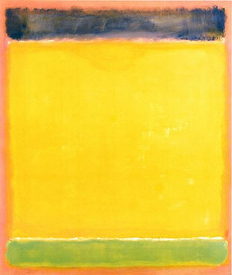 Mark Rothko Untitled Blue Yellow Green on Red 1954 Art Painting