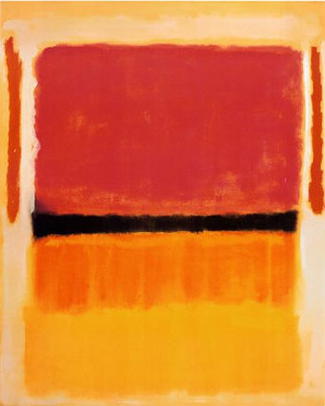 Untitled Violet Black Orange Yellow on White and Red 1949 painting - Mark Rothko Untitled Violet Black Orange Yellow on White and Red 1949 art painting