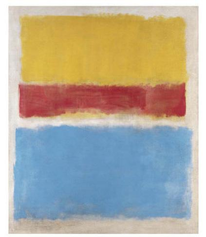 Untitled Yellow Red and Blue 1953