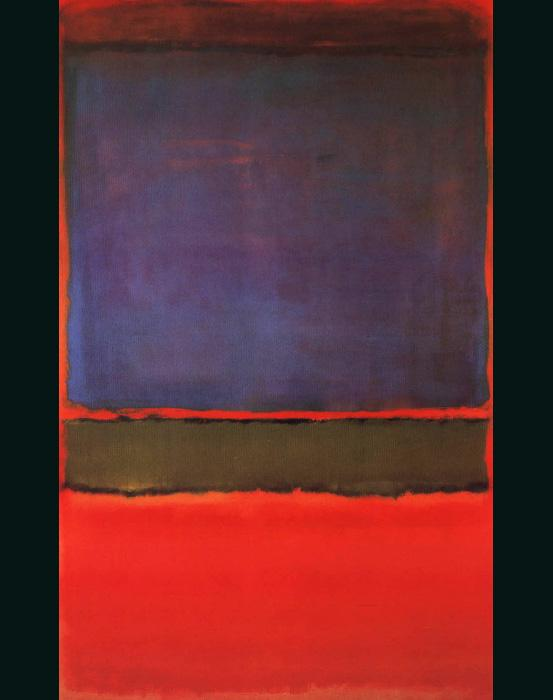 Violet Green and Red painting - Mark Rothko Violet Green and Red art painting