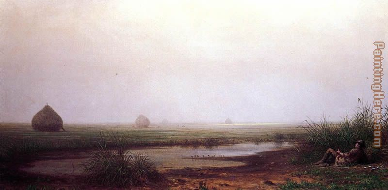Martin Johnson Heade Marsh with a Hunter Art Painting