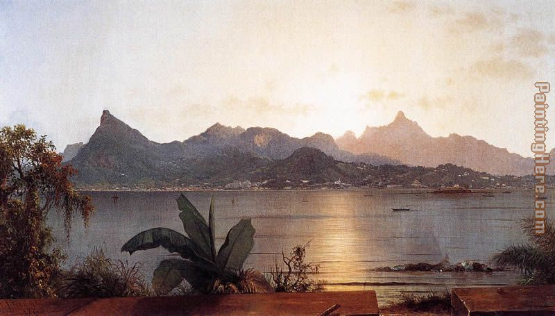Sunset, Harbor at Rio painting - Martin Johnson Heade Sunset, Harbor at Rio art painting