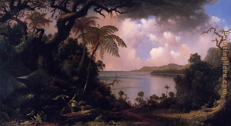 View from Fern-Tree Walk Jamaica painting - Martin Johnson Heade View from Fern-Tree Walk Jamaica art painting