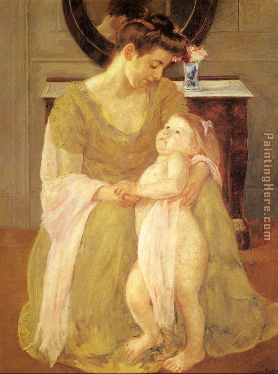 Mother And Child X painting - Mary Cassatt Mother And Child X art painting