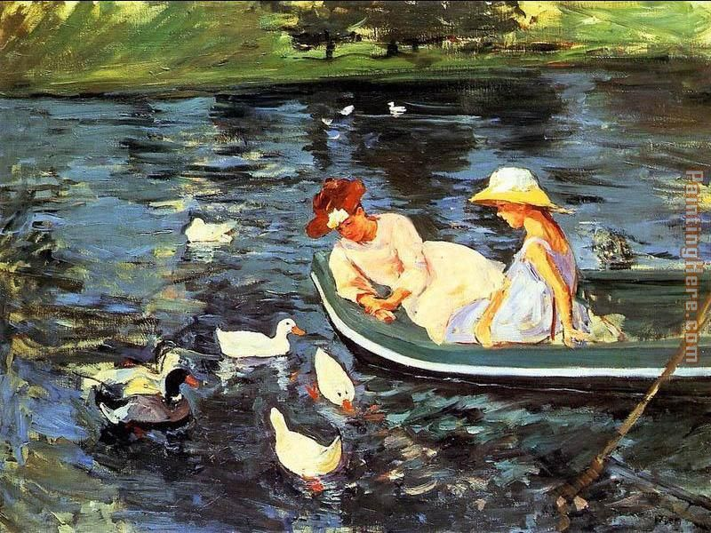 Summertime 2 painting - Mary Cassatt Summertime 2 art painting
