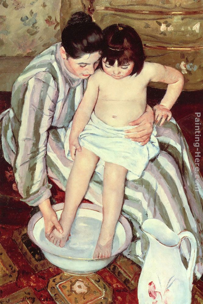The Bath painting - Mary Cassatt The Bath art painting
