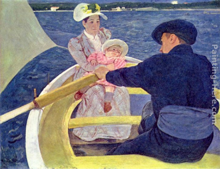 The Boating Party painting - Mary Cassatt The Boating Party art painting