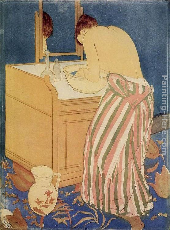 Woman Bathing painting - Mary Cassatt Woman Bathing art painting