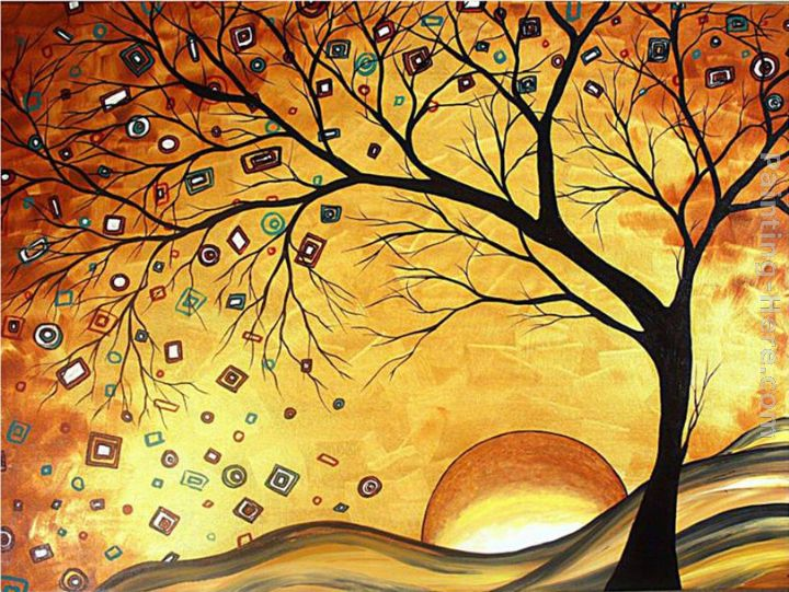Megan Aroon Duncanson Dreaming in Gold Art Painting