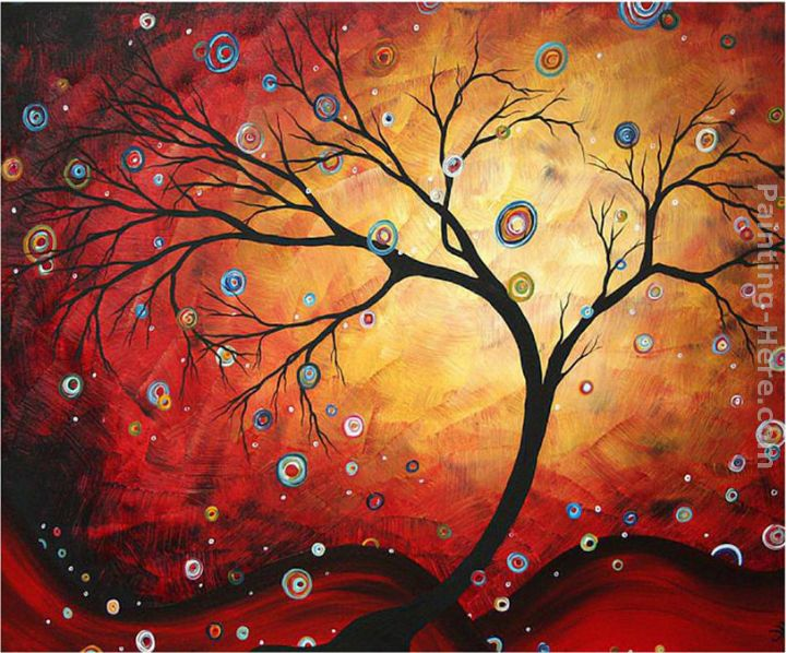 Megan Aroon Duncanson Red Halo Art Painting