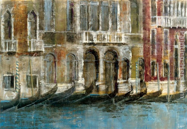 Canal Facades painting - Michael Longo Canal Facades art painting