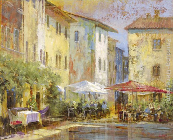 Michael Longo Courtyard Cafe Art Painting