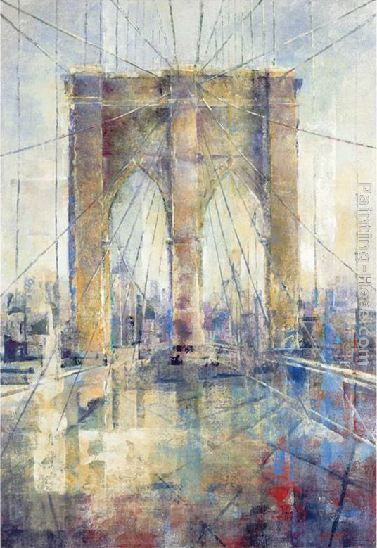 Manhattan Crossing painting - Michael Longo Manhattan Crossing art painting