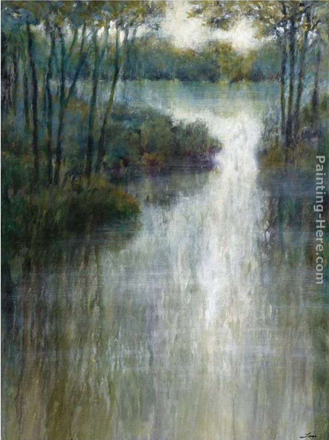 Pond Reflections painting - Michael Longo Pond Reflections art painting
